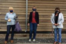 Übergabe von Mund-Nasen-Schutz an den Gießener Kinderschutzbund e.V.